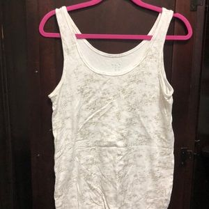 White and gold tank top